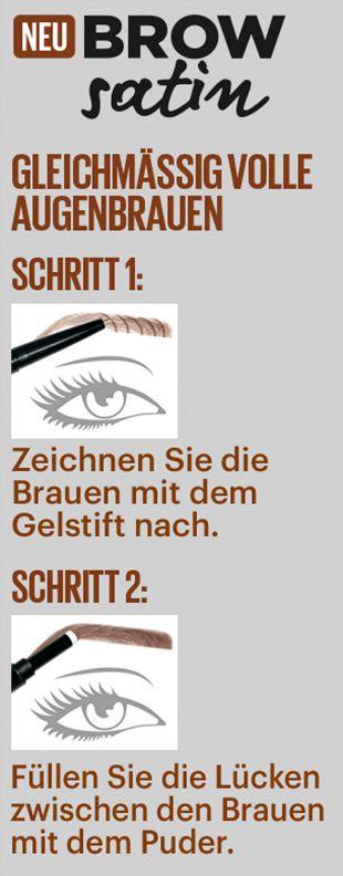In 2 Schritten zu den perfekten Augenbrauen!