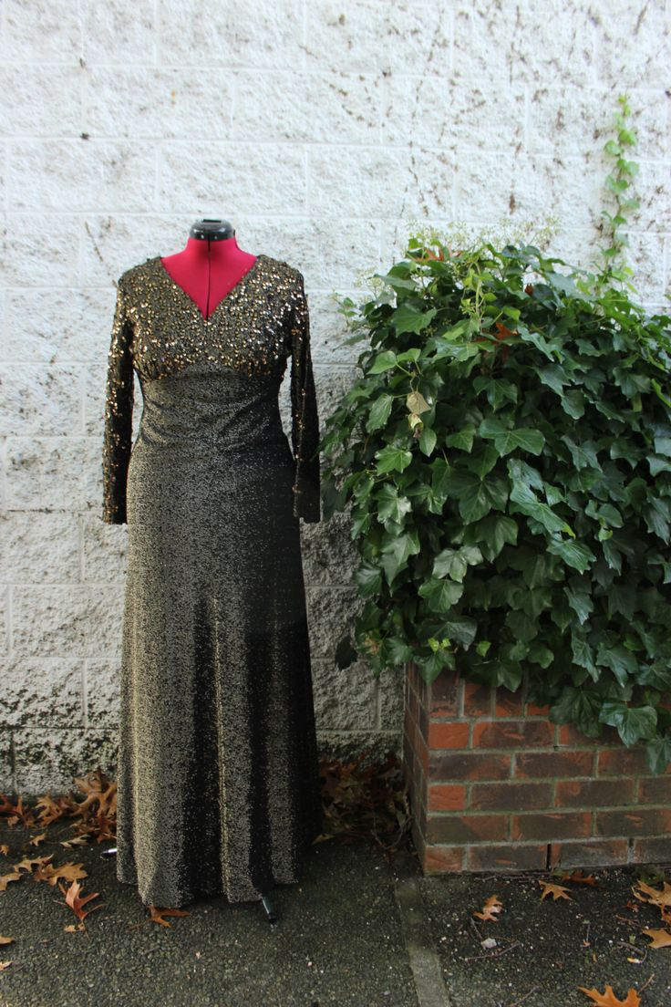 Gold Sequinned 60's Myra Original Dress by LennysVintageVault on Etsy