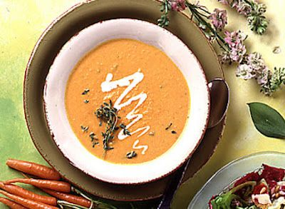 Carrot and Orange Soup with Thyme This soup is so simple to make and ...