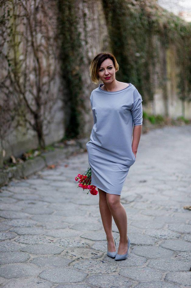 Oversize, sukienka Popiel - AfterHours - Sukienki dresowe