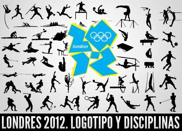 Vectores de siluetas de deportes olímpicos, especial para Londres 2012