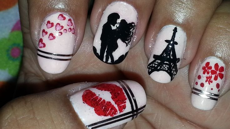 Sealed With A Kiss : Romantic Paris Themed Nail Art (+playlist)