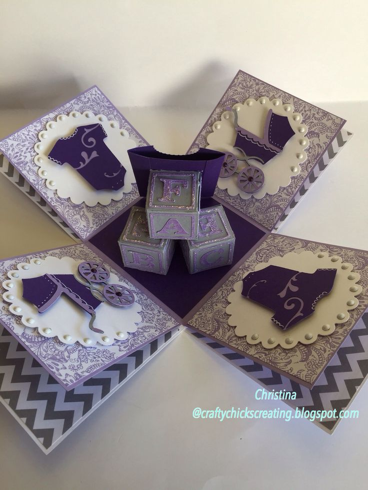 Baby Explosion Box Lavender and Grey