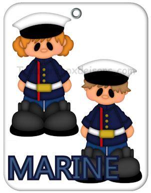 Military Pals (Marine) - Treasure Box Designs Patterns & Cutting Files (SVG,WPC,GSD,DXF,AI,JPEG)