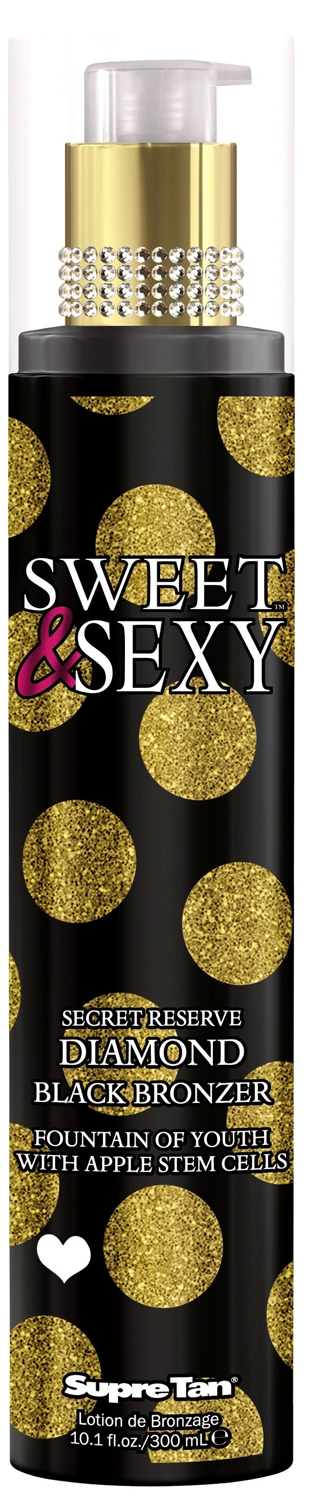 March 2014: Buy 1 full size bottle of Sweet & Sexy Secret Reserve Diamond Black Bronzer, receive a Sweet & Sexy Legs Bronzer FREE! (Supre Platinum Salon Partnership Members ONLY)
