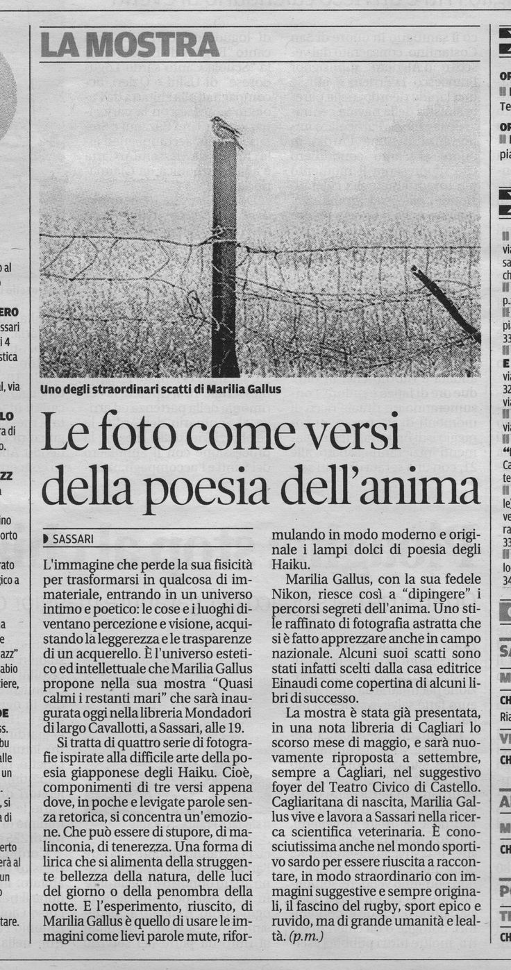 La Nuova Sardegna 04.07.2014