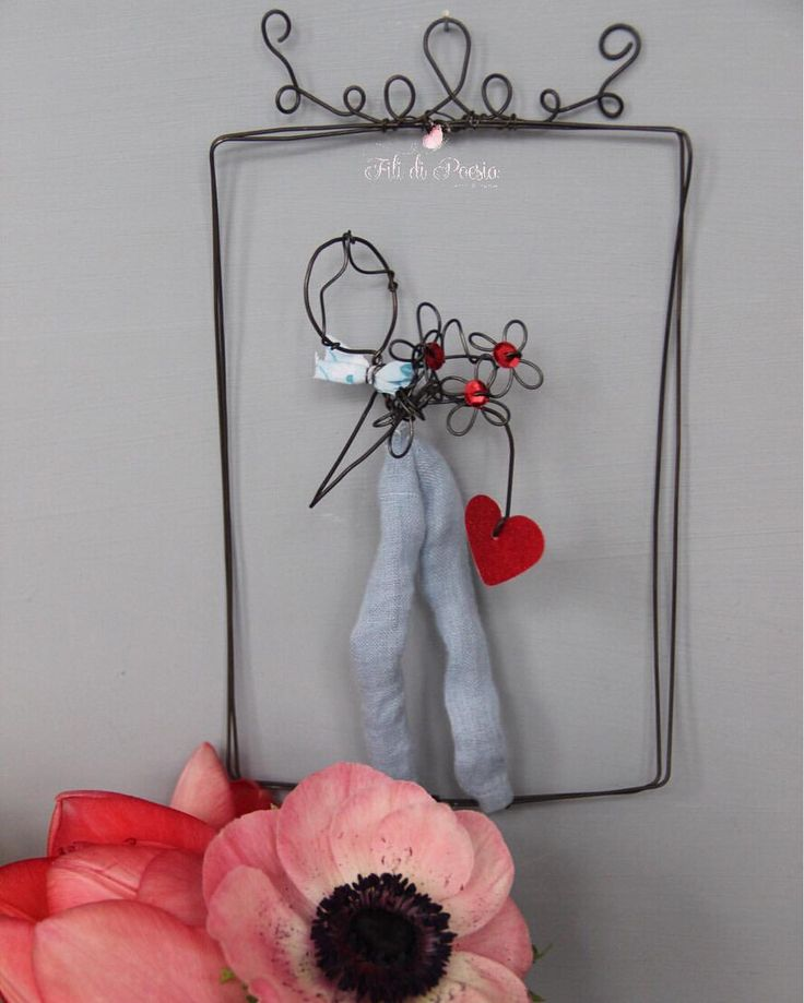 Be my Valentin Wire and textiles creations