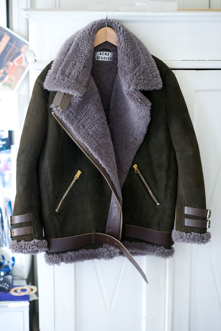 Best 25  Shearling jacket ideas on Pinterest | Black shearling ...