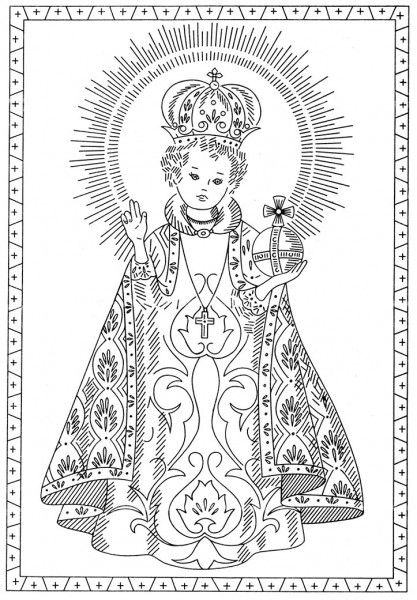 Free Pattern Friday — The Infant of Prague and Saint Thérèse of Lisieux Embroidery Transfers – Q is for Quilter