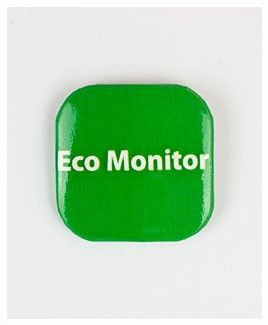 32mm Square Button Badge - Eco Monitor – London Emblem