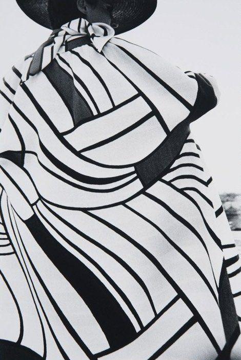 YSL coat. Photo: Frank Horvat, 1964.