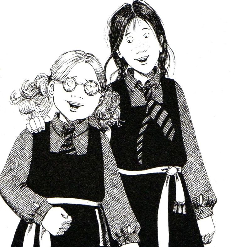 This picture will only make sense to anyone who grew up reading the books or watching the movie. It's from The Worst Witch :) it was my Harry Potter as a kid!