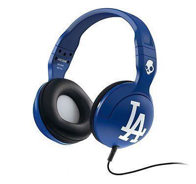 Skullcandy Hesh 2 MLB Los Angeles Dodgers Over Ear Headphones w/Mic1 Blue NIB
