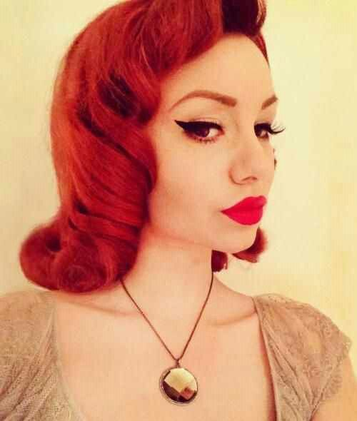 Pin By Latest Hairstyles On Repins From Pinterest: Short Red Rockabilly Hairstyle! :: Retro Hair:: Rockabilly