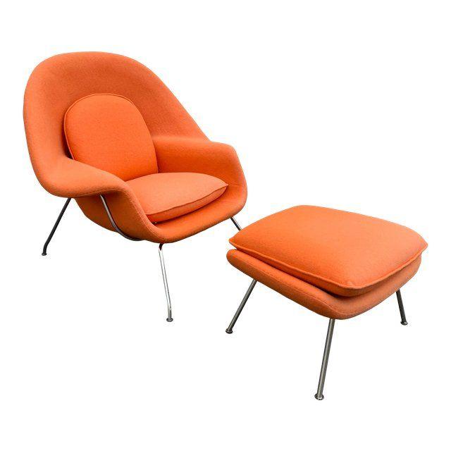 Saarinen Womb Chair and Ottoman | Revit