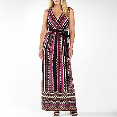 Studio 1® Sleeveless Maxi Dress-Plus Sizes - jcpenney