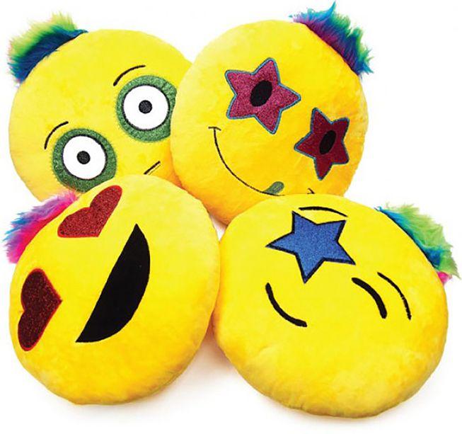 Rock-Star Emoji Decorative Pillows