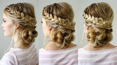 Double Braid Textured Updo For Valentine's Day