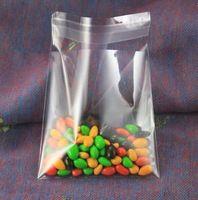 Sur vente 200 pcs/lote cadeau sac en plastique transparent emballage sac 7 x 10 cm auto - adhésif en plastique sacs emballage de petit gâteau livraison gratuite