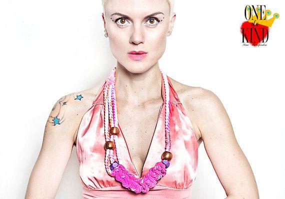 Agatha statement necklace Eco friendlyhand by irinimichopoulou