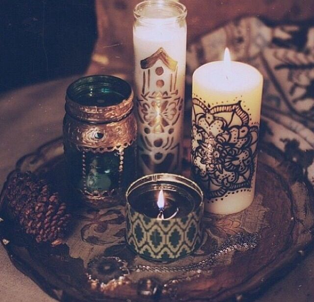 mandala // hipster // pretty // grunge // bedroom // tumblr // candles // fairy lights