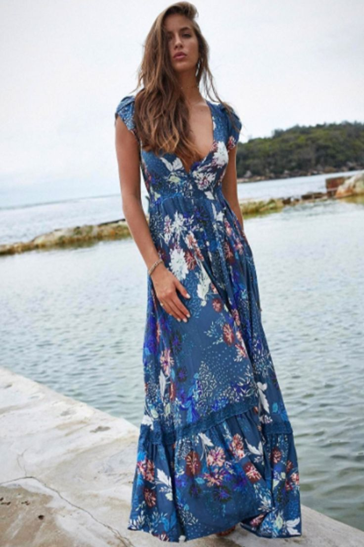Jaase - Cinque Terra Maxi Dress (Blue)