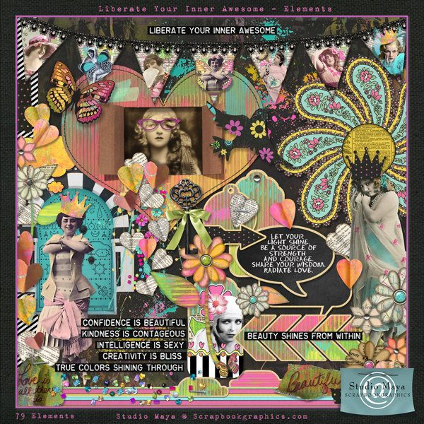 Scrapbookgraphics.com :: Kits :: Liberate Your Inner Awesome Kit