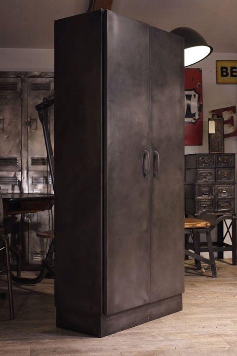 872 best meuble industriel vintage de renaud jaylac images on pinterest vintage industrial - Armoire industrielle ancienne ...