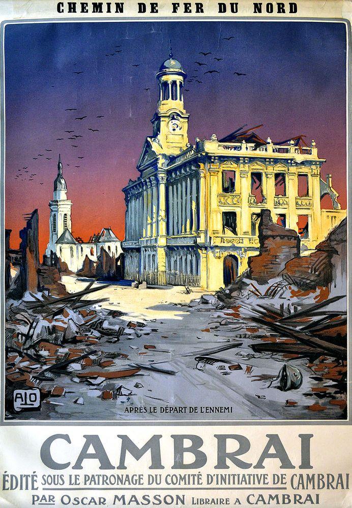 """Cambrai - Département du Nord Région : Nord-Pas-de-Calais illustration de Charles Hallo dit """"alo"""""""