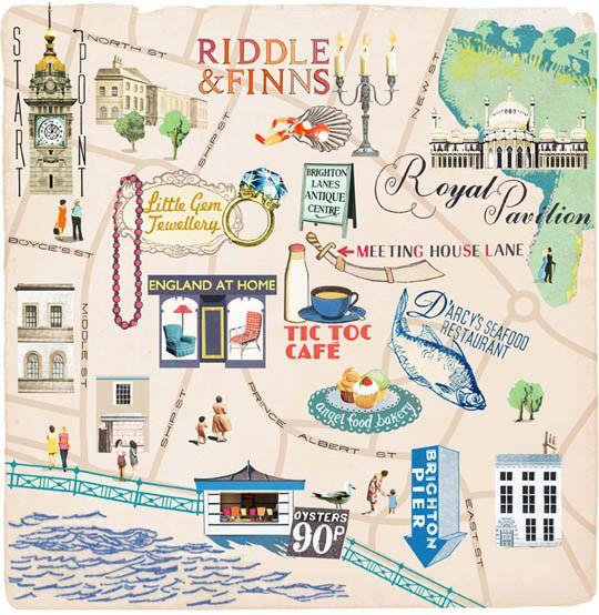 Brighton Map - Anna Simmons