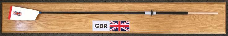 Rowing oar plaques, carbon fibre shaft, steel paddle. Club colours available