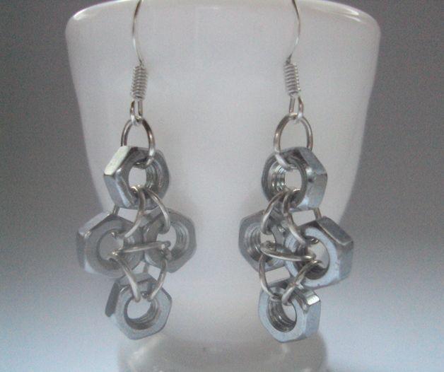 FOUR HEXNUTS  - earrings