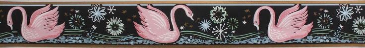 Rosie's Vintage Wallpaper - Trimz Vintage Wallpaper Border Swan Pink, $18.00 (http://www.rosiesvintagewallpaper.com/trimz-vintage-wallpaper-border-swan-pink/)