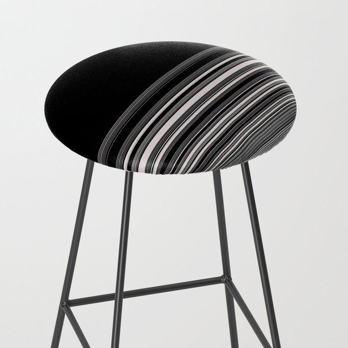 Modern Black White Stripes Bar Stool By Artaddiction45 Society6 With Images Black White Stripes Black And White Bar Stools