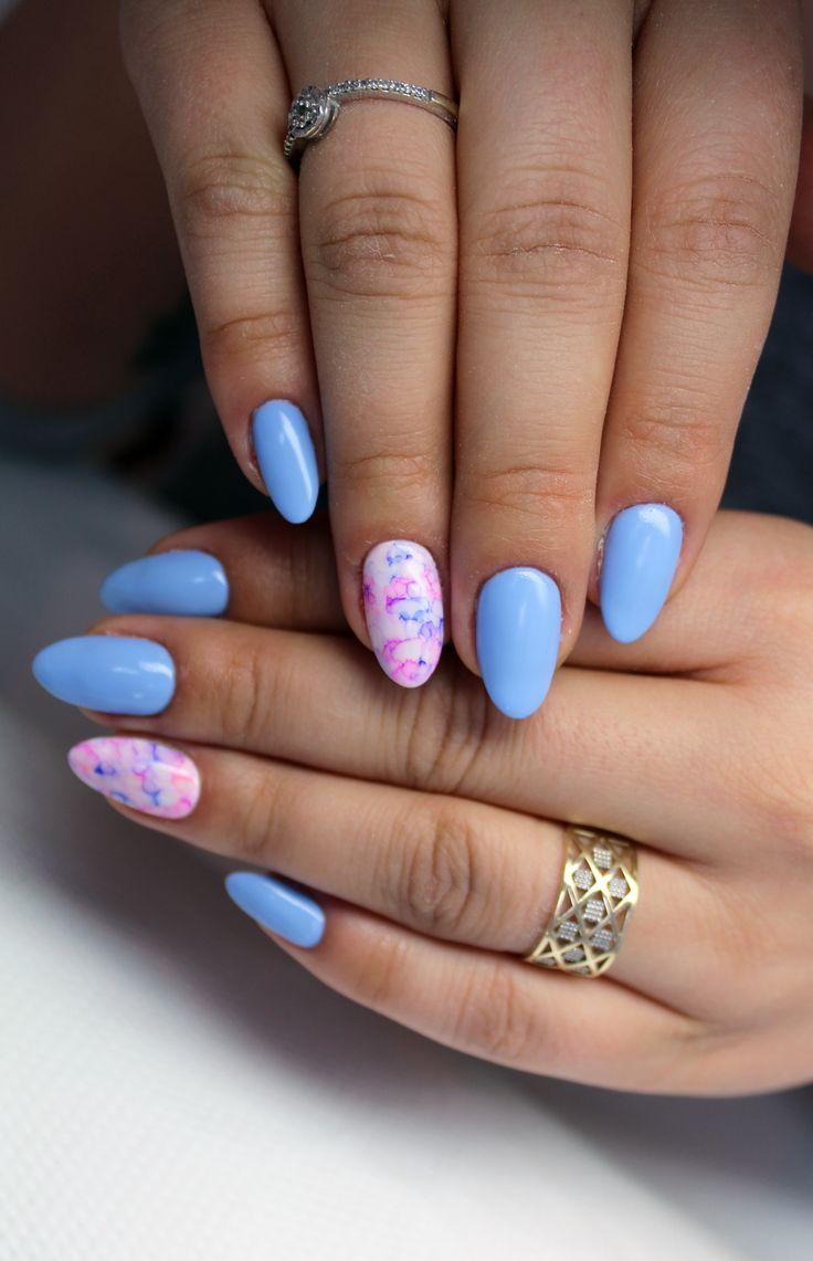 www.naillook.pl #paznokcie #nail #nails #babyblue #spring #wiosna #hybryda #mani #manicure #paznokciehybrydowe #nail #nails #nailart #zdobienia