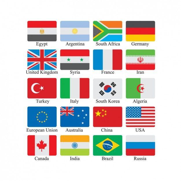 Flag Icon Set Free Vector