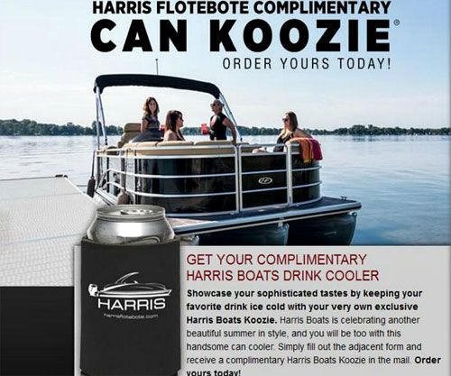 FREE Beer Koozie from Harris Boats (US only)