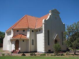 Bethulie se Gereformeerde kerkgebou, ontwerp deur die argitek Wynand Louw. Die hoeksteen is gelê op 16 Februarie 1924.