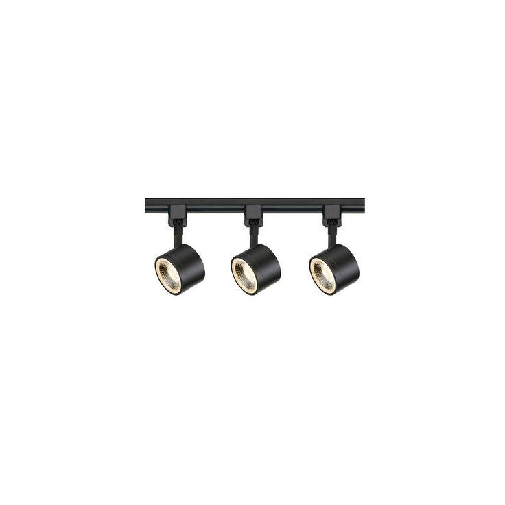 Filament Design 4 ft. Black Integrated LED Track Lighting Kit-HD-TK404 - The Home Depot