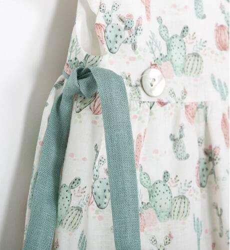 7b480f7e7 Vestido estampado lacitos verdes de Ancar