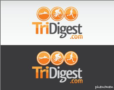 "Logo for a Wordpress Premium Triathlon Blog ""TriDigest"" by PhENoMeN"