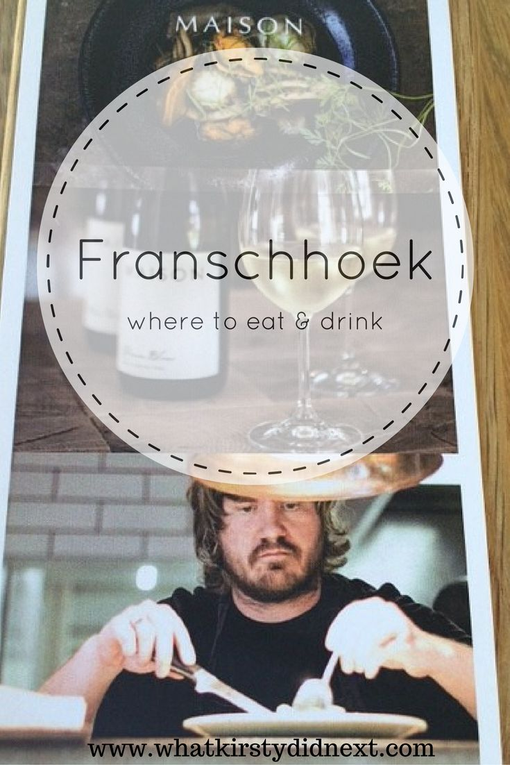 Wining and dining in Franschhoek. Just an hour from Cape Town