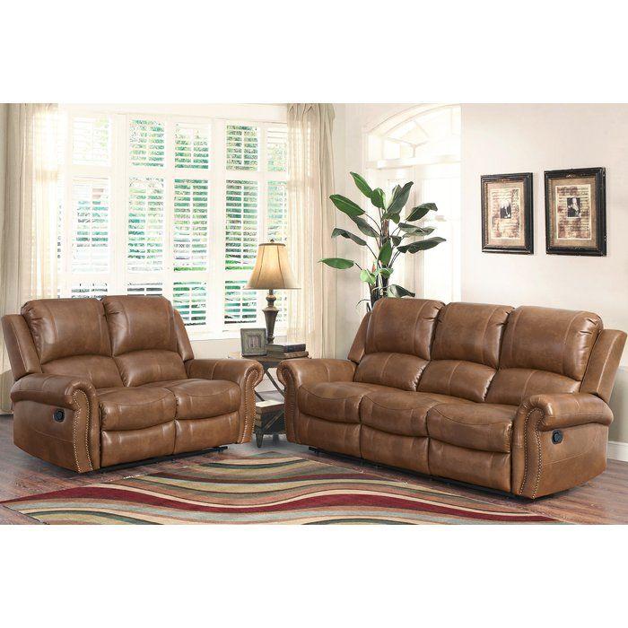 Vanhoy 2 Piece Reclining Living Room Set Living Room Leather Living Room Sets