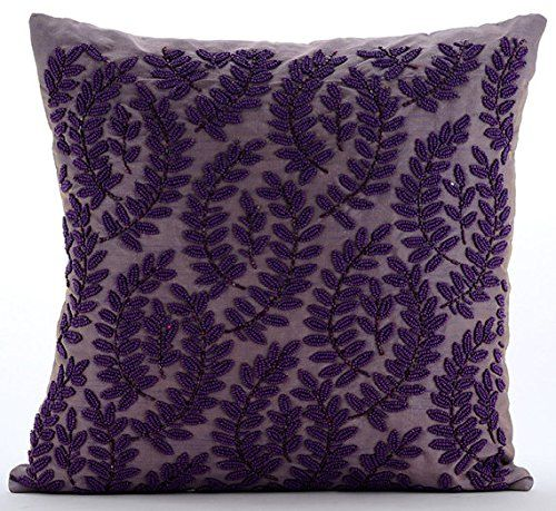 Purple Decorative Pillow Cover, Beaded Leaf Pattern Tropi... https://www.amazon.com/dp/B016H8VBSI/ref=cm_sw_r_pi_dp_x_wmJ.xbX41Q83A