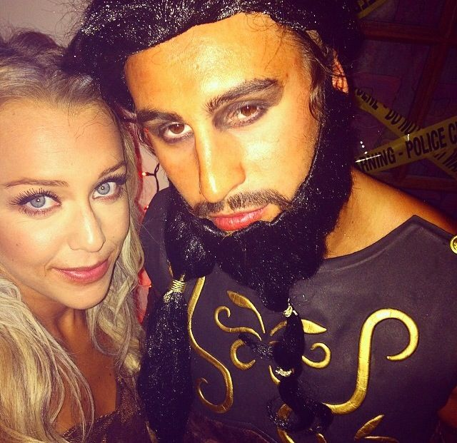 smith as a character from the game of thrones and his girlfriend at the team halloween - Detroit Halloween Parties