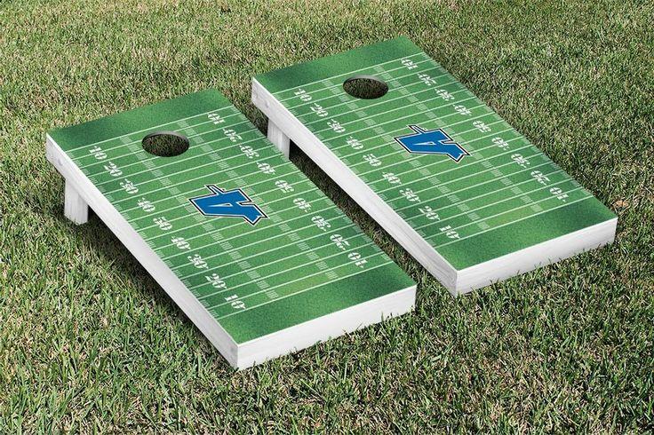 Cornhole Game Set - Assumption College Greyhounds Football Field Version - 25673