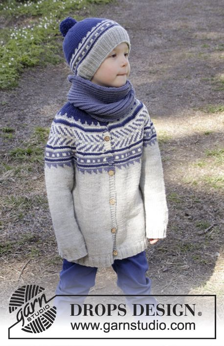 DROPS Children 27-31 DROPS Merino Extra Fine (21 sts) Size: 3/4 - 5/6 - 7/8 - 9/10 - 11/12 years