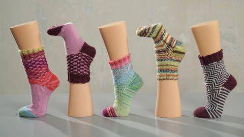 Toe-up Socken - von der Spitze aus gestrickt - Makerist Kurs