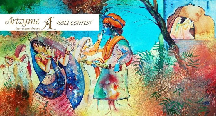 For More Details of #Artzyme #Holi #Painting Contest, Click http://www.artzyme.com/contests