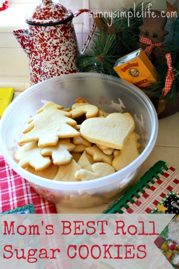 Thick, chewy, not too sweet sugar cookies Mom's Best Easy Roll Out Sugar Cookie Recipe